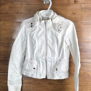 Abercrombie and Fitch Vintage white denim jacket